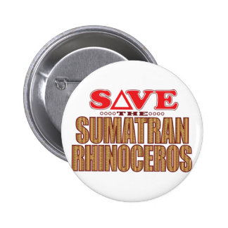 Sumatran Rhino Save 2 Inch Round Button