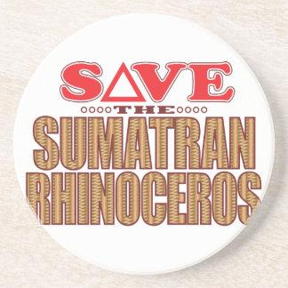 Sumatran Rhino Save Beverage Coaster