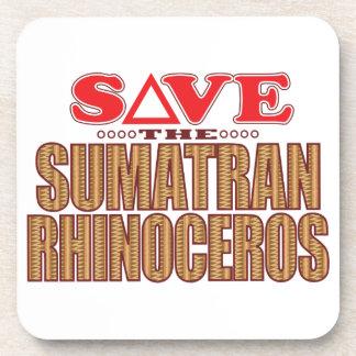 Sumatran Rhino Save Beverage Coasters