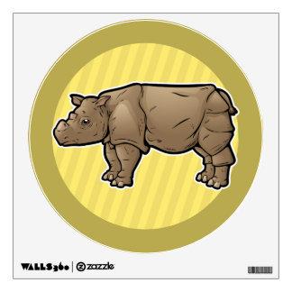 Sumatran Rhinoceros Wall Decal