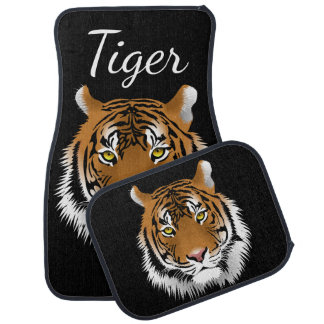 Sumatran Tiger Face Wildlife Personalized Car Mat
