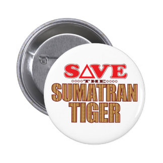 Sumatran Tiger Save 2 Inch Round Button