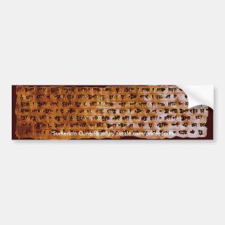 SUMERIAN CUNEIFORM WRITING Gift Series Bumper Sticker