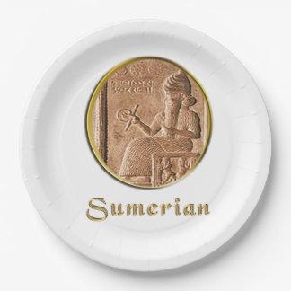 sumerian paper plate