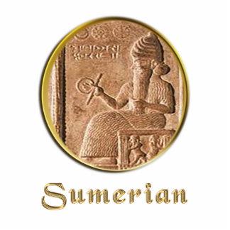 sumerian photo sculpture keychain