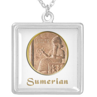 sumerian silver plated necklace