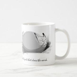 Sumi ink Zen Master cat Basic White Mug