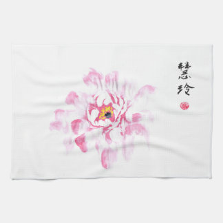 Sumi Story 2018 - Peony by mhlcl Kitchen Towel