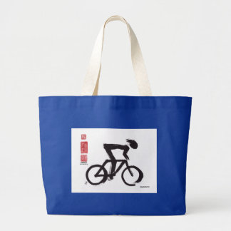 "SumiCyclist ""Emancipation"" Large Tote Bag"