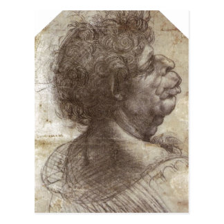 Summary A Grotesque Head (c. 1504 - 1507) is a dra Postcard