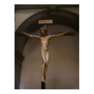 Summary Crucifix sculpted by Michelangelo , in San Postcard