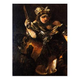 Summary Description Judith y Holofernes. Pintura a Postcard
