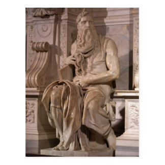 Summary Description Michelangelo Buonarroti : Mose Postcard