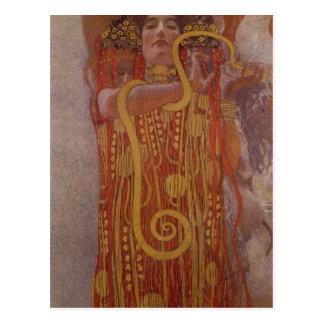 Summary Description Portion of Klimt's painting Me Postcard