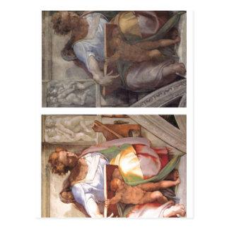 Summary Description Sistine Chapel, the prophet Da Postcard