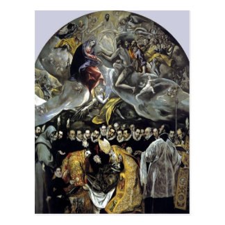 Summary El Greco - The Burial of the Count of Orga Postcard