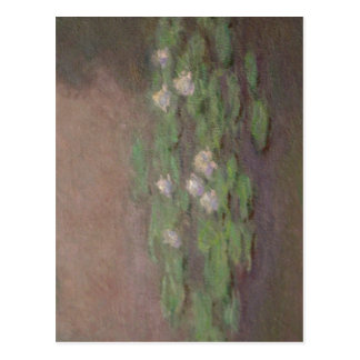 Summary Monet, closeup of Water lily pond, one of  Postcard