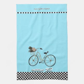 Summer 2017 Bike to The Beach (With your Dog) Kitchen Towel