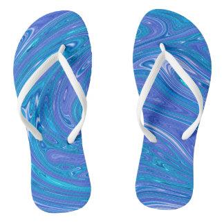 Summer Abstract Flip Flops