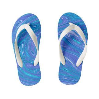 Summer Abstract - kids Kid's Flip Flops