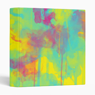 Summer abstract watercolor splatters Ring binder