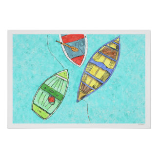 Summer Afternoon Boat Rest Poster