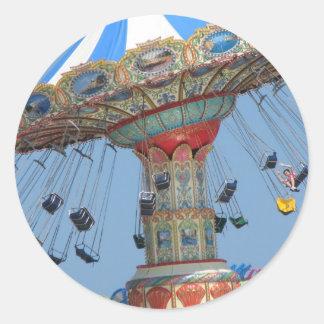 Summer amusement classic round sticker