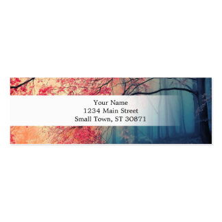 Summer and winter in the forest mini business card