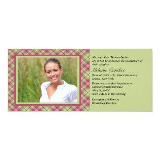 Summer Argyle Photo Graduation  Invitation