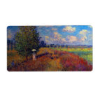 Summer art impressionist poppy fields by Monet