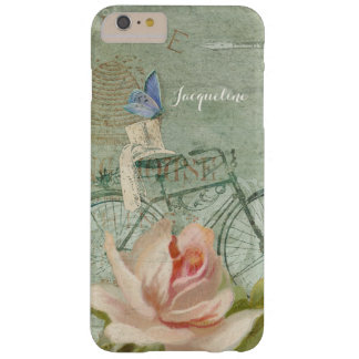 Summer at the Cottage, Vintage Bicycle Wood Rose Barely There iPhone 6 Plus Case