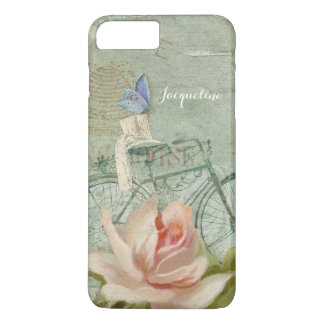 Summer at the Cottage, Vintage Bicycle Wood Rose iPhone 7 Plus Case