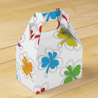 Summer Background Clover Leaf Party Favor Boxes