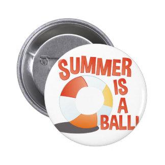 Summer Ball 2 Inch Round Button