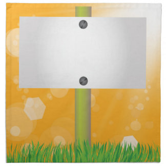 summer banner napkin