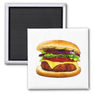 Summer Barbecue Burger Refrigerator Magnets