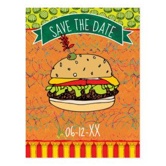 Summer BBQ Save the Date Invitation Postcard