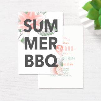 SUMMER BBQ vintage floral Business Card