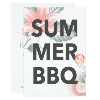 SUMMER BBQ vintage floral Card