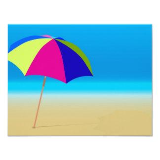 """Summer Beach 4.25"""" X 5.5"""" Invitation Card"""