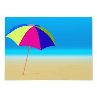 """Summer Beach 4.5"""" X 6.25"""" Invitation Card"""