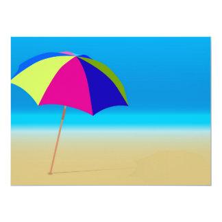 """Summer Beach 6.5"""" X 8.75"""" Invitation Card"""