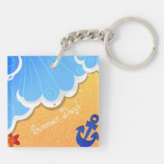 Summer Beach acrylic keychain