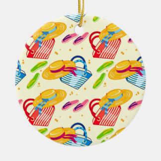 Summer beach ceramic ornament
