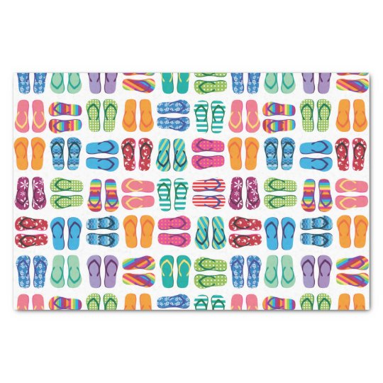 Summer Beach Flip Flops Party Tissue Paper