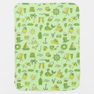 Summer Beach Fun Baby Blanket