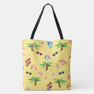 Summer Beach Holiday Tote Bag