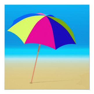 "Summer Beach 5.25"" Square Invitation Card"