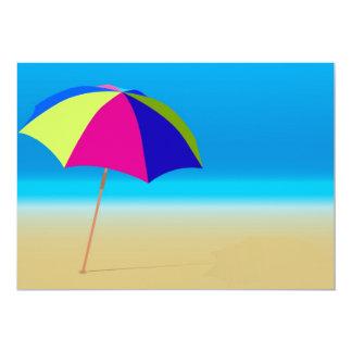 """Summer Beach 5"""" X 7"""" Invitation Card"""