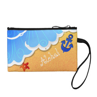 Summer Beach key coin clutch